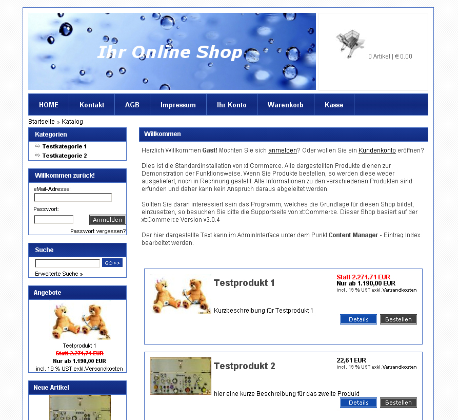 Blaues xt commerce div css template navigation links fema media templateshop modified - Css div template ...